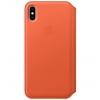 Чехол iphone Apple Leather Folio для iPhone XS Max (MVFU2ZM/A), тёплый закат, купить за 9475руб.
