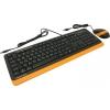 Комплект A-4Tech Fstyler F1010 черно-оранжевый, купить за 1450руб.