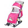 Санки-коляску Ника НД 7-6 снеговики - розовый, купить за 4385руб.