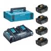 Аккумулятор универсальный Makita 198094-8 DC18RD-1шт, BL1860B-4шт,18В, 6.0Ач,Li-ion, MakPac (набор), купить за 32 080руб.