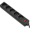 Сетевой фильтр Defender ES 1,8 черный, купить за 555руб.