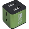 USB концентратор Defender QUADRO IRON, (83506) зелёный, купить за 415руб.