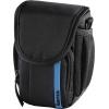 Сумку для фотоаппарата Hama Nashville 90, черная с синим, купить за 1090руб.