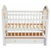 Детская кроватка Briciola10 маятн.прод. ящ. авт. cтразы, белая, купить за 10 300руб.