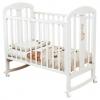 Детская кроватка Красная Звезда Вилона С 703 ЗН (накладка Жираф), белая, купить за 8 570руб.