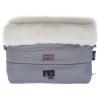 Муфта для коляски Nuovita Alaska Bianco Серая меховая, купить за 1 499руб.