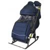 Санки-коляска Galaxy Kids 3-3C Джинс, тёмно-синяя, купить за 5 760руб.