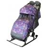 Санки-коляска Galaxy Kids 3-1 Ёлки на фиолетовом, купить за 5 520руб.