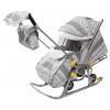 Санки-коляска Galaxy Luxe Финляндия серая, купить за 5 760руб.