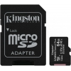 Карту памяти Kingston MicroSDHC 64Gb SecureDigital  Class 10 UHS-I, SD adapter, купить за 850 руб.