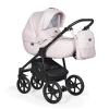 Коляска Indigo PRIMA Po 04 светло розовая кожа+светло розовый лен, купить за 22 735руб.