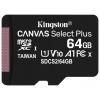 Карту памяти Kingston microSDHC SDCS2/64GBSP 64GB, черная, купить за 700руб.