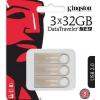 Usb-флешку Kingston DTSE9H/32GB-3P 32Gb,3шт, серебристая, купить за 1780руб.