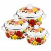 Набор посуды для готовки КМЗ Розовый рай-1 белый, 3 предмета, купить за 2 290руб.