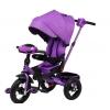 Трехколесный велосипед Moby Kids Leader 360° 12x10 AIR Car 641350,   фиолетовый, купить за 9 960руб.