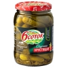 Продукт питания Огурчики 6 Соток хрустящие, 720 мл, купить за 100руб.