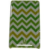 ����� ��� �������� �����-������ E-cell GREEN CHEVRON PATTERN GLOSSY BACK CASE