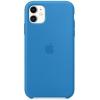 Чехол iphone Apple Silicone Case для iPhone 11 - Surf (MXYY2ZM/A), синий, купить за 3030руб.