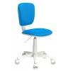 Компьютерное кресло Бюрократ CH-W204NX/BLUE TW-55, белое-голубое, купить за 3 190руб.