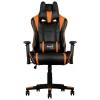 Игровое компьютерное кресло Aerocool AC220 AIR-BO, черно-оранжевое, купить за 13 290руб.