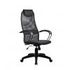 Компьютерное кресло Метта BР-8 PL № 21, серая сетка , металлические подлокотники, купить за 5755руб.