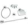 набор аксессуаров для ванной комнаты Grohe 40344001 Essentials (5 предметов), хром (40344001)