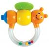 Игрушку для малыша Погремушка-прорезыватель Жирафики Пчёлка Мая с дудочкой, купить за 110руб.