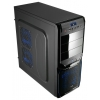 Корпус компьютерный Aerocool V3X Evil Blue Edition, черный, купить за 4405руб.