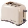 Тостер Galaxy GL 2901, бежевый, купить за 1 080руб.