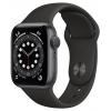 Умные часы Apple Watch Series 6 40mm Space Grey Aluminum Case Sport Band (MG133RU/A), чорние, купить за 35 445руб.