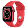 Умные часы Watch Series 6 40mm Product red Aluminum Case with red Sport Band (M00A3RU/A), красный, купить за 35 035руб.