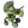 Коляска Alis Mateo Lux 2 в 1 ML 06, зеленая+цветочный микс, купить за 15 100руб.