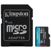 Карту памяти Kingston 64GB microSDXC Canvas Go Plus 170R A2 U3 V30 Card + ADP (Class 10), купить за 1270 руб.