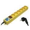 Power Cube B, 6 розеток, 3 м, жёлтый, купить за 530руб.