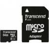 Флеш карта MicroSDXC 64Gb class10 Transcend UHS-1  +адаптер, купить за 2 000руб.