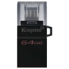 Usb-флешку Kingston (DTDUO3G2/64GB) 64Gb DataTraveler microDuo3 G2, купить за 1295 руб.