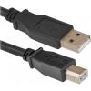 Кабель Defender USB 2.0 A (M) - USB B (M) (87430), 1.8м, купить за 585руб.