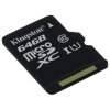 Kingston SDC10G2/64GBSP (64Gb, class10, 45MB/s), купить за 1 800 руб.