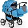 Коляска Indigo Maximo, Ma 06 синий + тёмный графит, купить за 9 735руб.