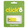 Usb-флешка Qumo Click USB2.0 8Gb (RTL), Lemon, купить за 425 руб.