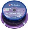 Оптический диск Verbatim DVD+R 8.5GB Dual Layer (25шт./кейкбокс)