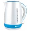 Электрочайник Vitek VT-1128, белый/синий, купить за 2 490руб.