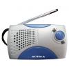 Радиоприемник Supra ST-113, серебристый с голубым, купить за 695руб.