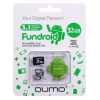 Qumo microSDHC class 10 32GB + Fundroid USB Card Reader Green, ������ �� 865 ���.