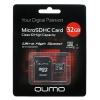 Карта памяти Qumo microSDHC class 10 UHS-I U1 32GB + SD adapter, купить за 1 035руб.
