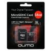 Карта памяти Qumo microSDHC class 10 UHS-I U1 16GB + SD adapter, купить за 810руб.