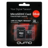 Qumo microSDHC class 10 UHS-I U1 16GB + SD adapter, купить за 575руб.