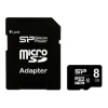 Silicon Power micro SDHC Card 8GB Class 10 + SD adapter, купить за 580 руб.