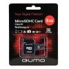 Карта памяти Qumo microSDHC class 10 8GB + SD adapter, купить за 490руб.