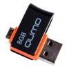 Usb-флешка Qumo Hybrid 8Gb, Черно-оранжевая, купить за 795руб.